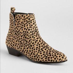 Gap Cheetah Calf Hair Ankle Boots